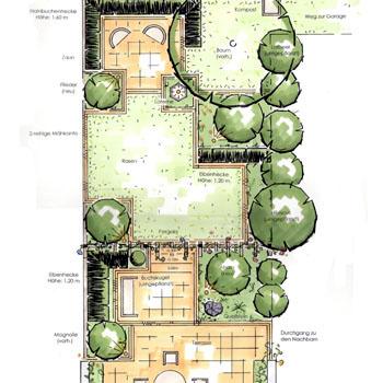 Formaler Reihenhausgarten ~ Kreative Deko-Ideen und ...